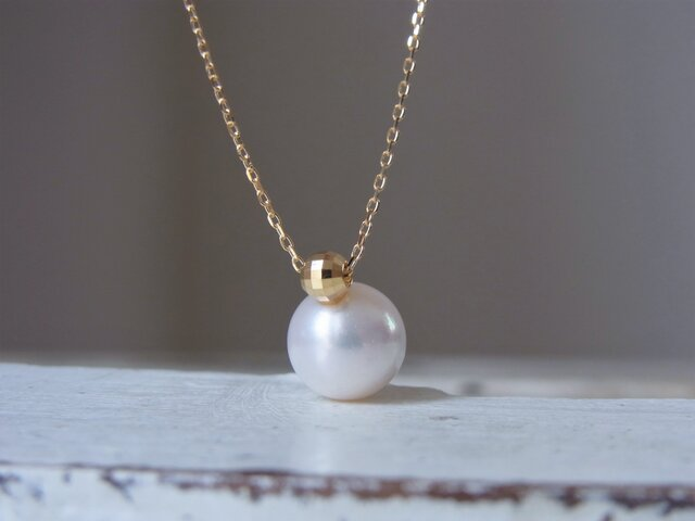 1本限定 K18 あこや真珠のネックレスの画像1枚目