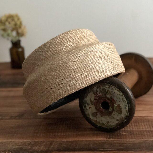 夏帽 switch beret/naturalの画像1枚目