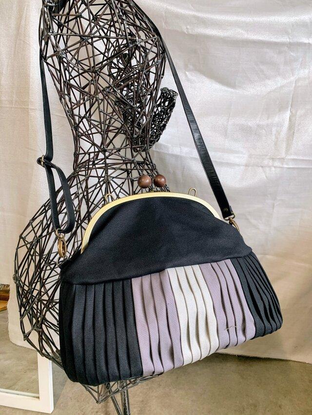 『Dさまオーダー品』倉敷帆布バルーンバッグ24  グレーグラデ No.104の画像1枚目