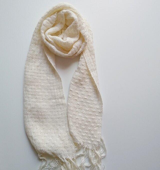 さらっと気持ちいいバンブーストール* 手織り 竹糸 の画像1枚目
