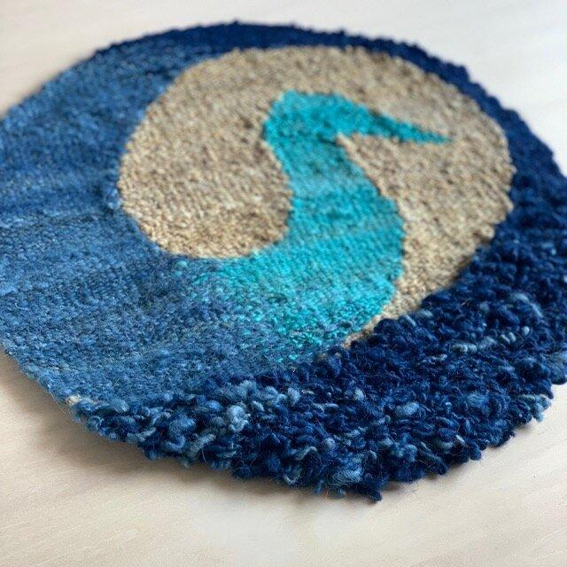 青い鶴のマット 和製ギャッペの画像1枚目