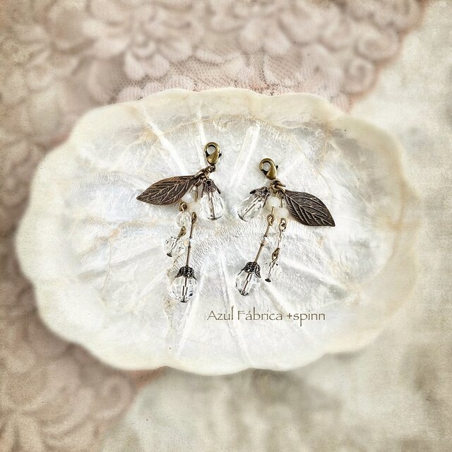 マスクピアス:ice flower (gold)の画像1枚目