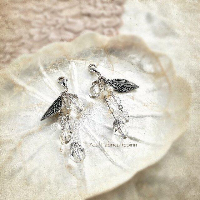 マスクピアス:ice flower (silver)の画像1枚目