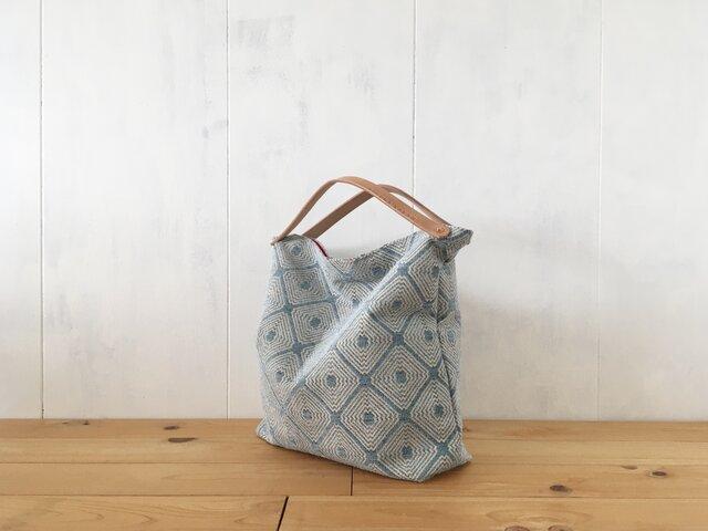 【受注製作】ジャカード織生地の鞄 Cの画像1枚目