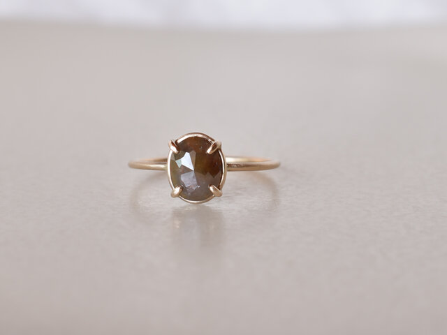 Frosted Diamond Ring Sepia Brownの画像1枚目