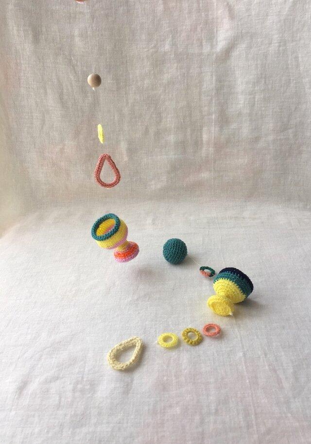 knit glass  ガーランド ・レモンイエローの画像1枚目