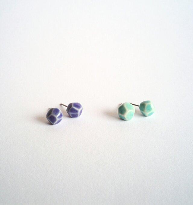 とうきのピアス(blue stone)の画像1枚目