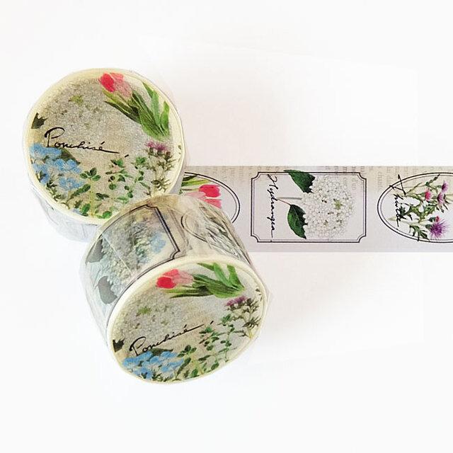花のマスキングテープの画像1枚目