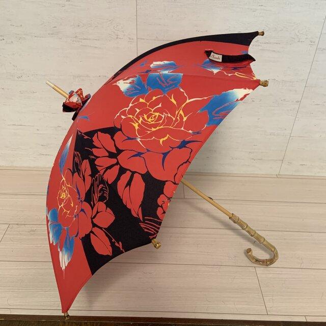 浴衣地日傘 Roseの画像1枚目