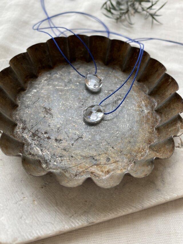 宝石質AAAクリスタルシルクコードネックレスの画像1枚目