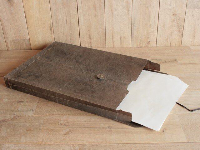 ロウ引き和紙のマニラ封筒の画像1枚目