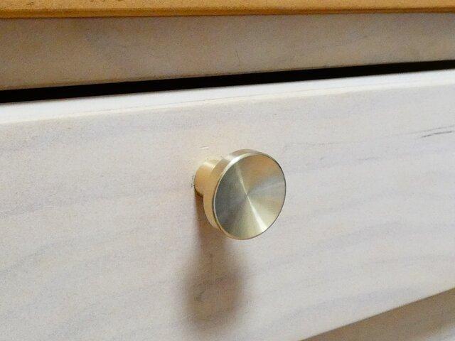 【取っ手 通販 】Φ25㎜ 真鍮無垢  ツマミ type1 / 取っ手 通販 DIY 小物入れ デスク チェスト 机 引き出しの画像1枚目
