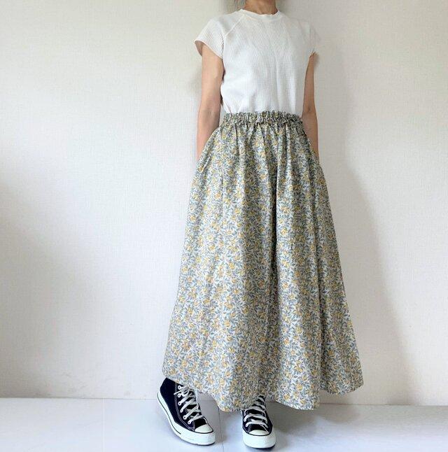 檸檬のサマーロングスカート*マキシ丈*ベージュの画像1枚目