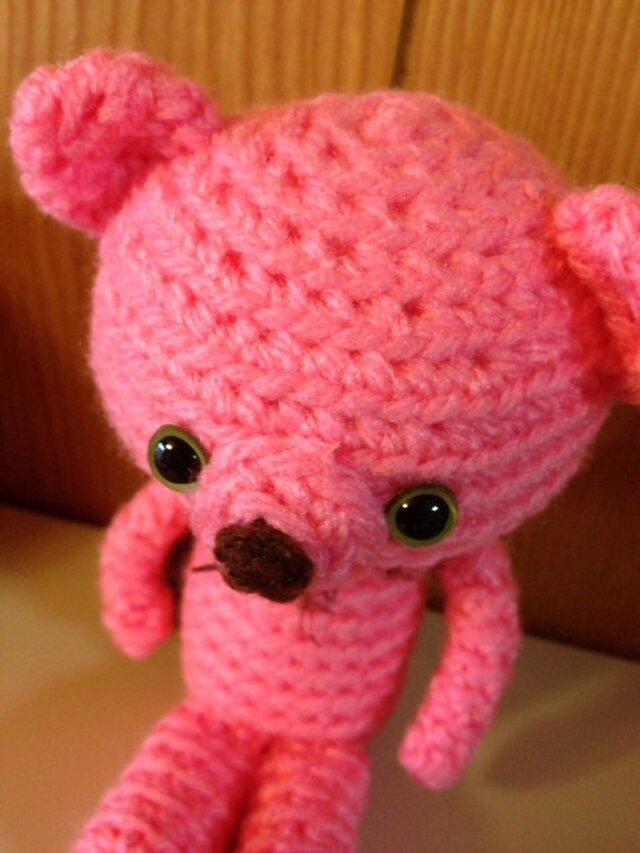 手編みクマ子 ピンクのRoroさんの画像1枚目