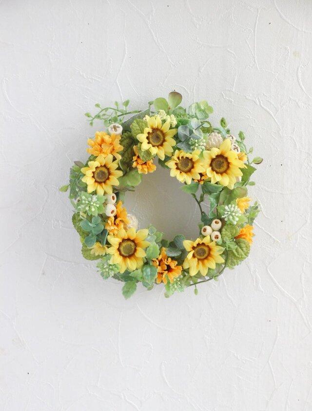 Smiling sumflower wreathの画像1枚目