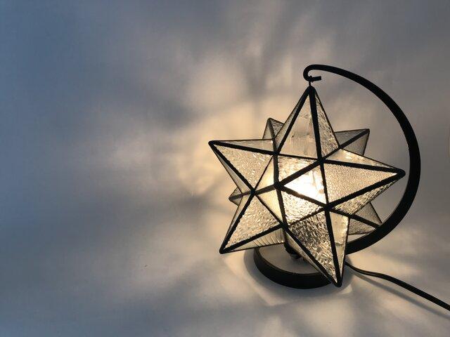ステンドグラス 星のランプの画像1枚目