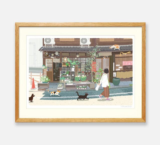 イラストフレーム(43.京都の花屋)の画像1枚目