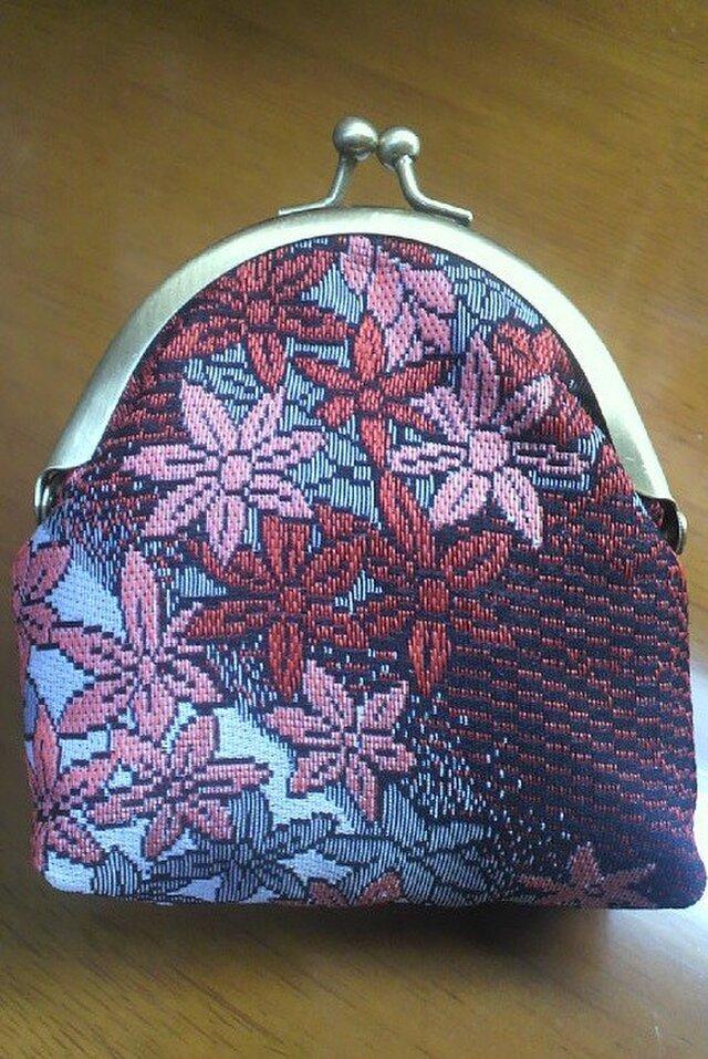 着物生地のがま口財布(紅葉)の画像1枚目