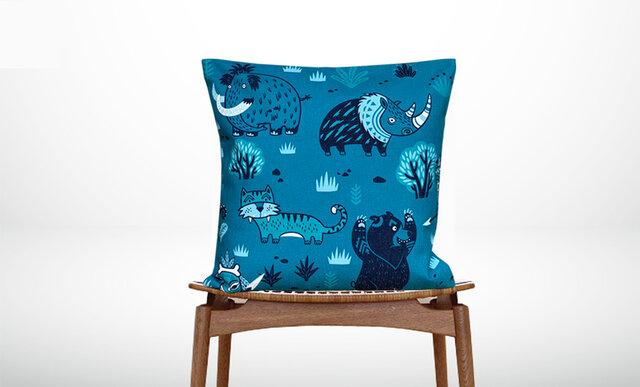 森のクッション Various animalse designs  -ヒノキの香り-の画像1枚目
