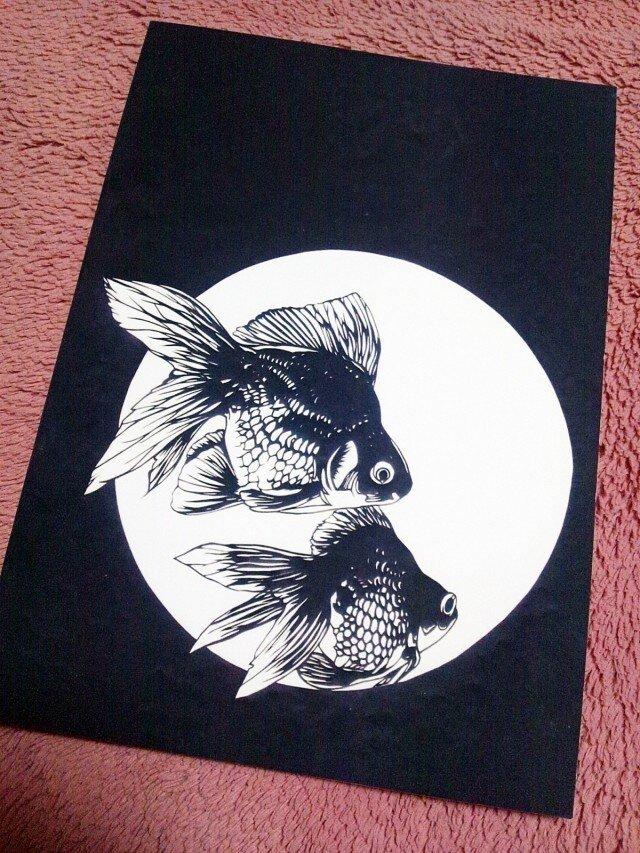 ノート(金魚)の画像1枚目