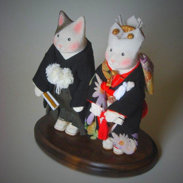 縮緬福猫 ウェディング(和装) その十七の画像1枚目