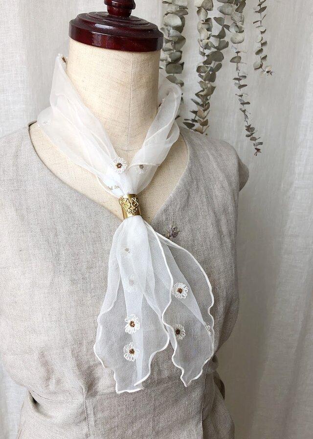 【シルクオーガンディープティスカーフ】Lisa Ivoryの画像1枚目