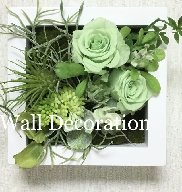 Green  rose  Wall  deco Aの画像1枚目