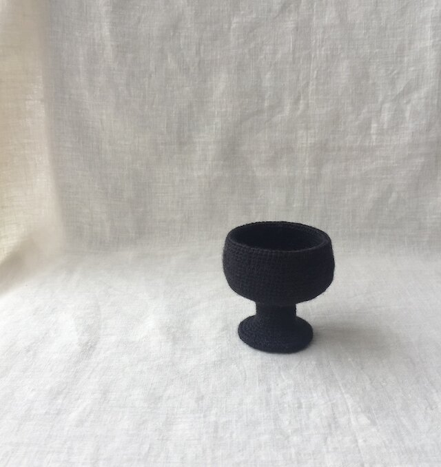 knit glass/ ブラックの画像1枚目