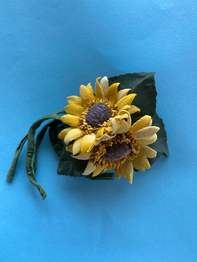 布花 Wild Sunflower corsage Aの画像1枚目