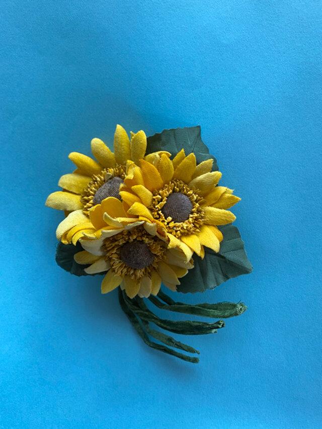 布花 Wild Sunflower corsage Bの画像1枚目