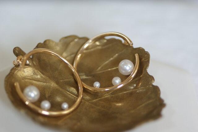 【shizuku】gold pierceの画像1枚目