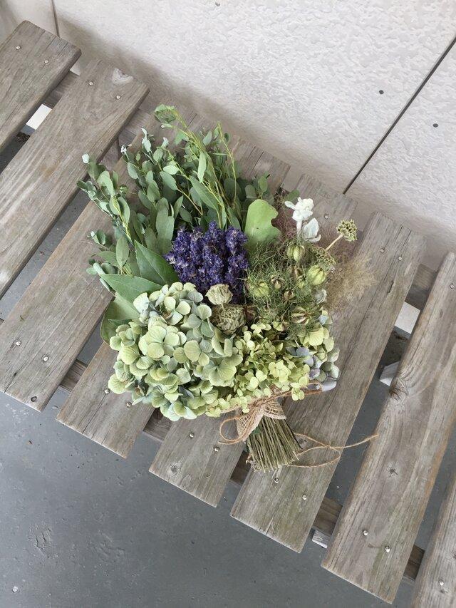 グリーンハーブの花束(ラベンダー)の画像1枚目