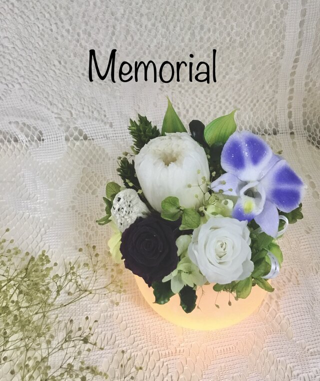 お供えLEDワックスランプ Honoka  白菊の画像1枚目
