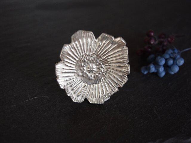 ブローチ(銀彩) 花-18の画像1枚目