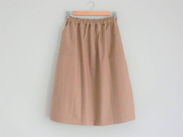 ギャザースカート beigeの画像1枚目