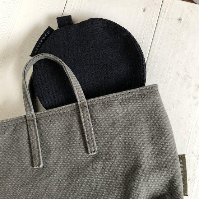 miniバッグ/横タイプ/カーキグレーの画像1枚目