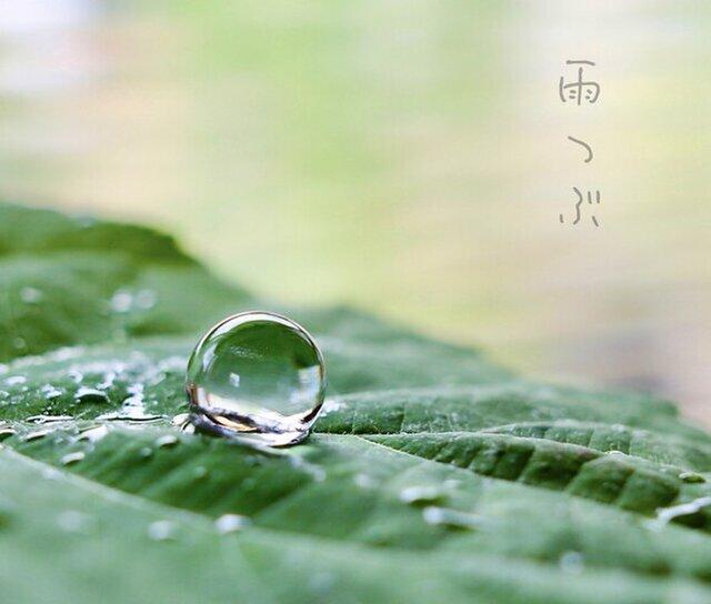 雨粒 ネジバネ式イヤリングの画像1枚目