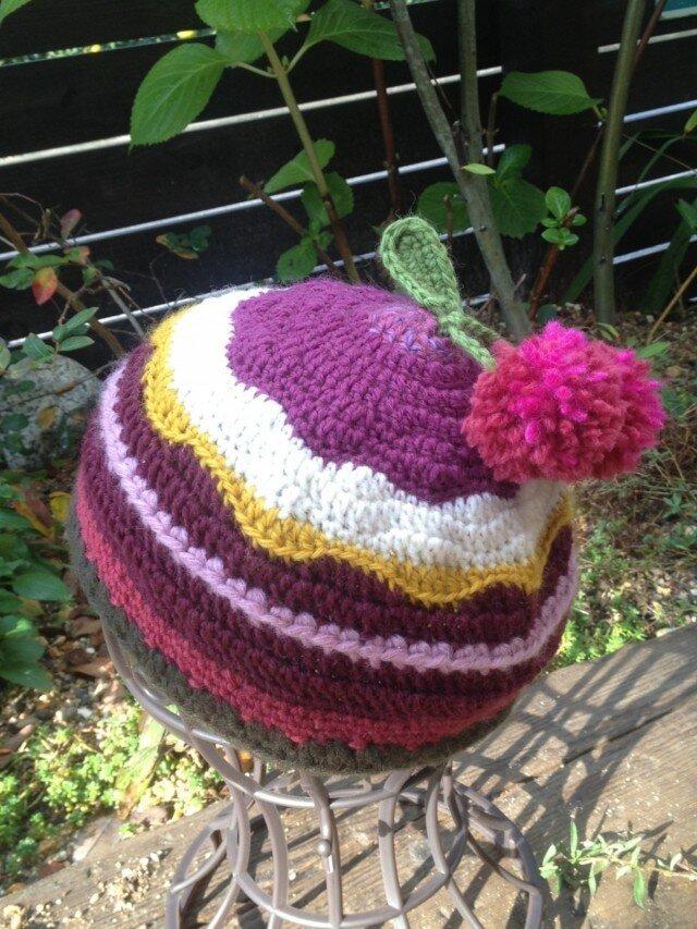 ケーキみたいなニット帽の画像1枚目
