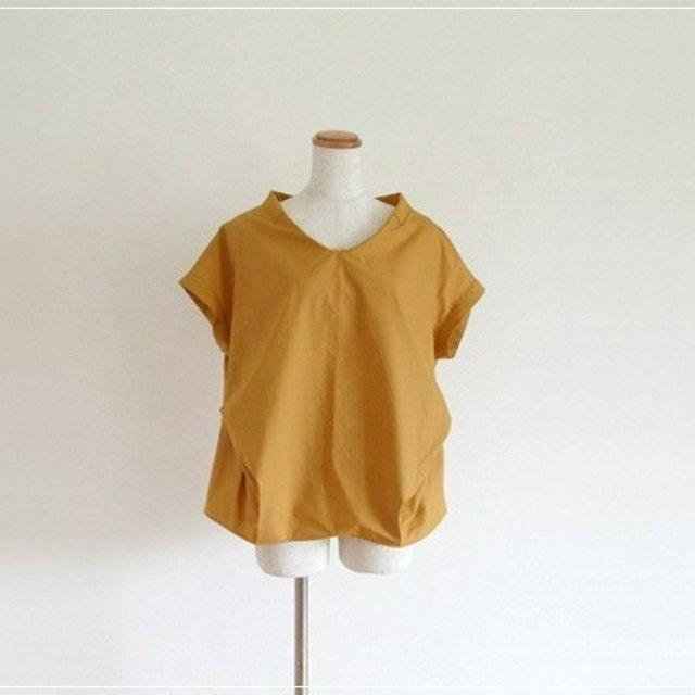 yellow* フロントタックブラウスの画像1枚目