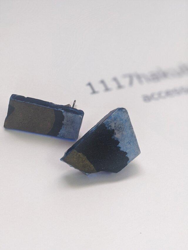 逆に、あざとく…/periced earring/blueの画像1枚目