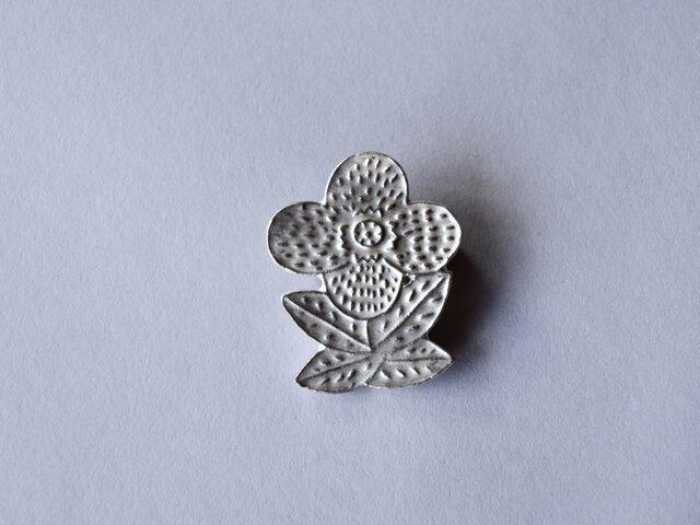 ブローチ(銀彩) 花-8の画像1枚目