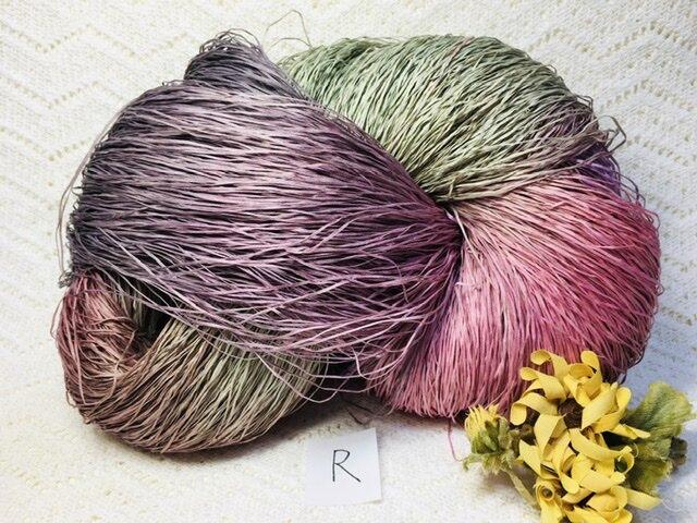 R手染め糸♬多色染めコットンギマ330gの画像1枚目