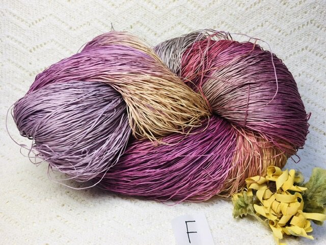 F手染め糸♬多色染めコットンギマ330gの画像1枚目