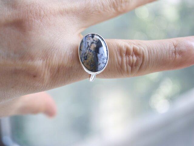 ボタニカルアートのデンドリティックアゲート ringの画像1枚目