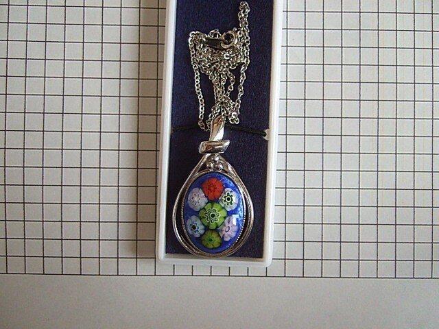 銀七宝 ネックレス ミルフィオリ の画像1枚目