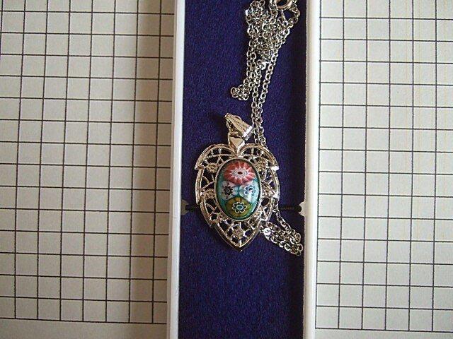 銀七宝 ネックレス ミルフィオリの画像1枚目