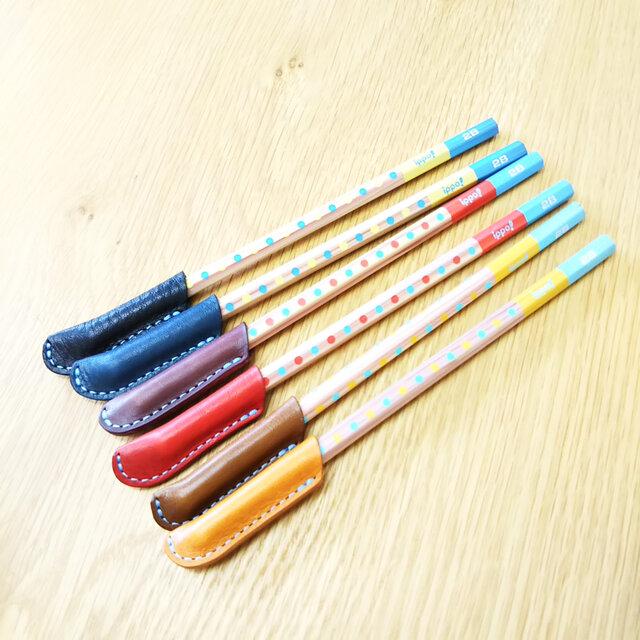 ヌメ革えんぴつキャップ(1個)*6色から選べますの画像1枚目