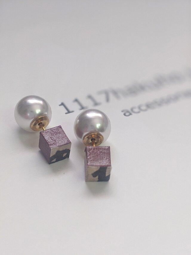 恋せよ乙女/pierced earring/pinkの画像1枚目