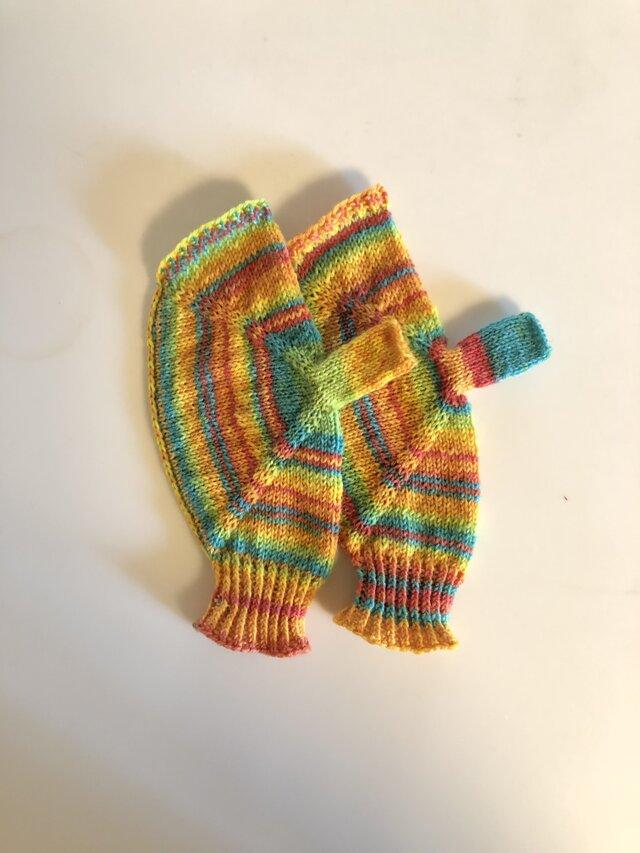 №363 手編みミトンの画像1枚目