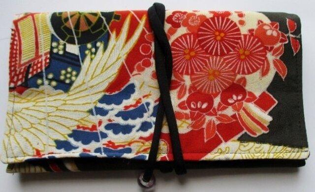 5060 色留袖で作った和風財布・ポーチ #送料無料の画像1枚目
